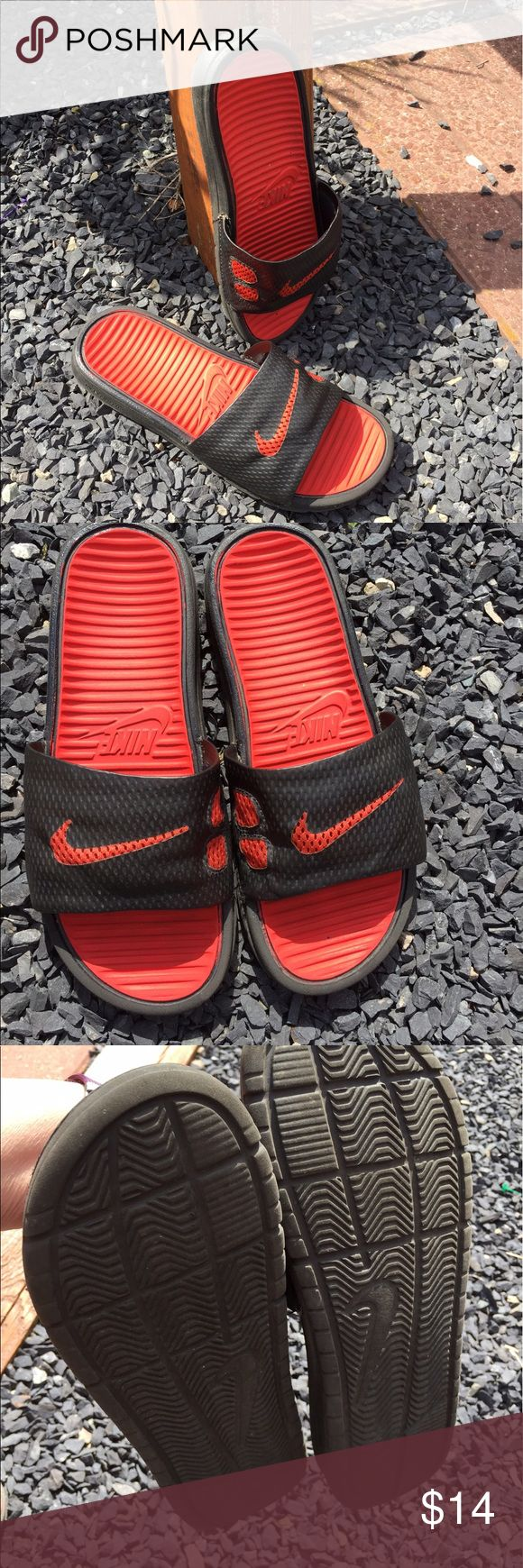 Nike Youth Boys Sandals Size 4 Size Youth 4. Gently preowned. Be sure to view the other items in our closet. We offer  women's, Mens and kids items in a variety of sizes. Bundle and save!! Thank you for viewing our item!! Nike Shoes Sandals & Flip Flops