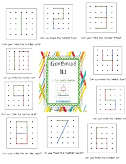 First Grade Blue Skies: Ta-Dah! GeoBoard It! Math Station Pack and a Freebie!!