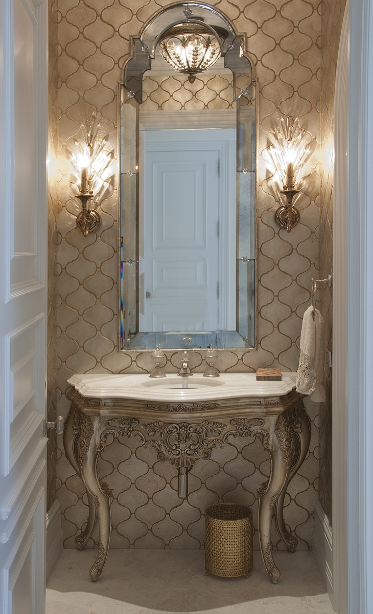 Best Images About Bathrooms Mirror Feature Wall On -  fort lauderdale bathroom mirror light