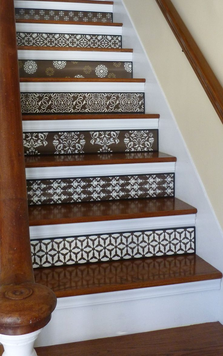 Stair Design Ideas / Staircase Design Ideas / Visit www.tributedesigns.etsy.com TODAY to view the 'Beautiful Browns' collection of handmade stair riser art! Custom orders are always welcome. 'Favorite', follow, and like the shop to stay up to date on the latest designs and offers!