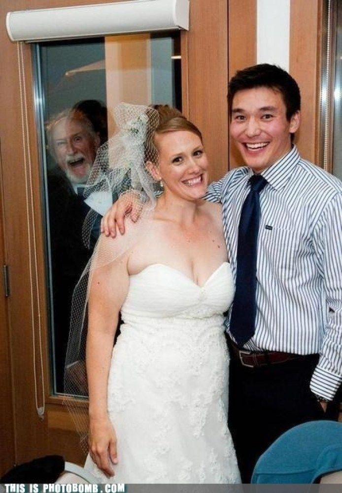 Wedding Photo Bomb! Wasn't this a scene from a movie..
