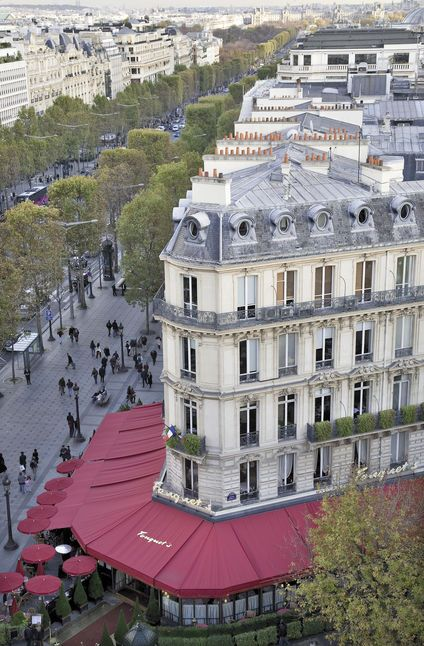 Fouquet's from above, 99 av. des Champs-Elysées, Paris 8e