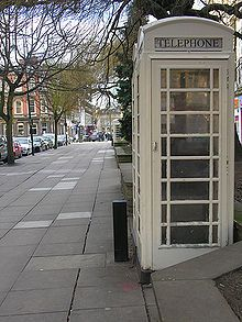 Hull, UK. Land of the white telephone boxes - where my husband is from