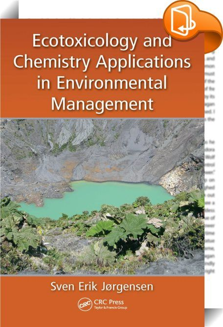 """Ecotoxicology and Chemistry Applications in Environmental Management    ::  <P><STRONG>Ecotoxicology and Chemistry Applications in Environmental Management</STRONG> describes how to set up an integrated, holistic approach to addressing ecotoxicological problems. It provides detailed explanations in answer to questions like """"Why is it necessary to apply an integrated approach?"""" and """"How does one apply an integrated environmental management approach?""""</P> <P>Highlighted topics of the boo..."""