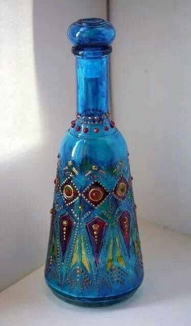 Glass paint and beads