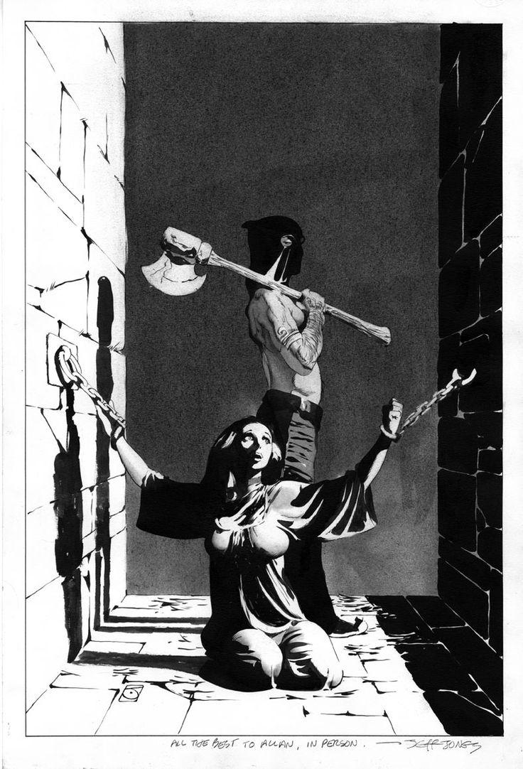 Jeff Jones Wonder Woman #199 Cover Comic Art