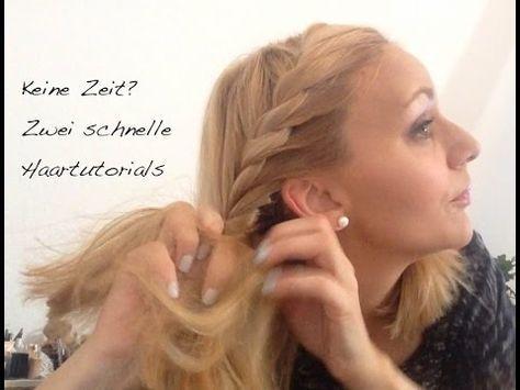 Tutorial - Zwei schnelle Frisuren mit und ohne Haarband - YouTube