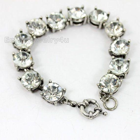 Crystal Bracelt Statement Bracelet Bubble by Emilyjewelry4u, $11.40