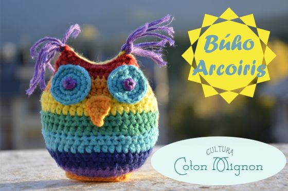 Búho Ganchillo Arcoiris | crochet | Pinterest