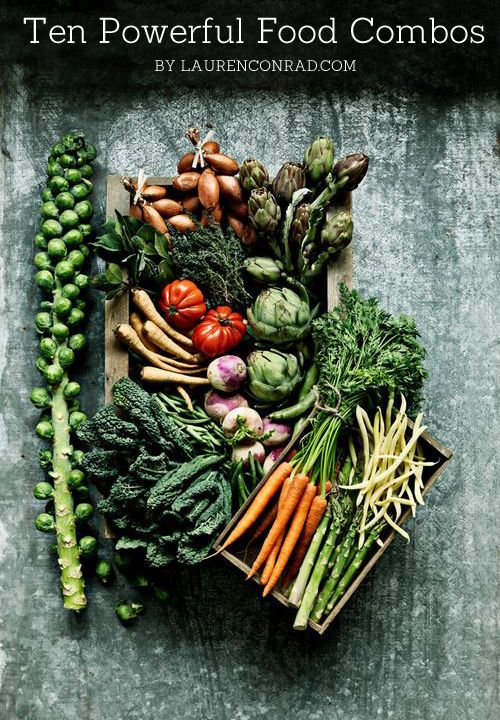 Cancer fighting, healthier skin and all day energy are just a few of the benefits to these power food combos. #healthyeating