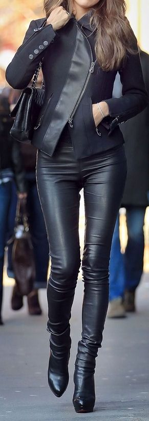 All Black Leather. Love the jacket!