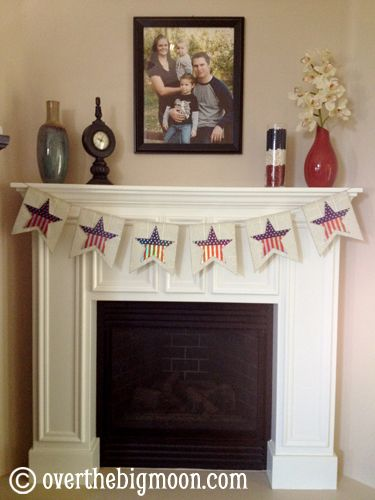 83 best 4th of July - Mantels images on Pinterest | Mantle ideas ...