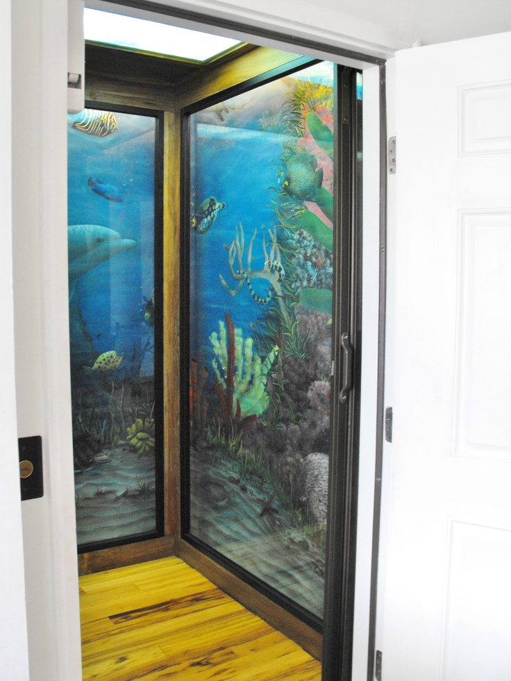22 best images about home elevators on pinterest for Mural glass painting