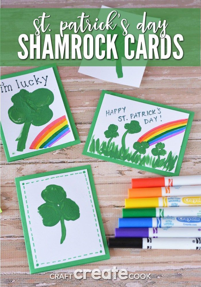 St. Patricks Day Cards for Kids to Make