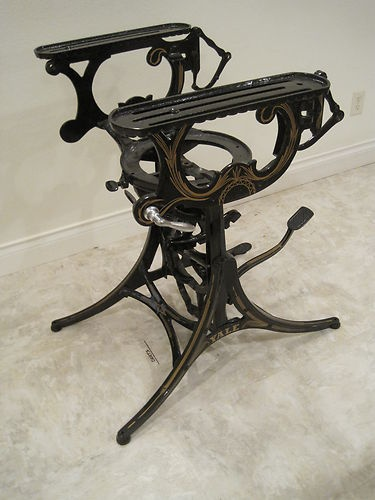 Vintage Cast Iron Articulating Table Base Steampunk Industrial Drafting  Legs | EBay