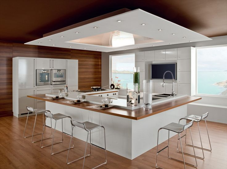 U shaped kitchen design with good plenty of lighting are a must