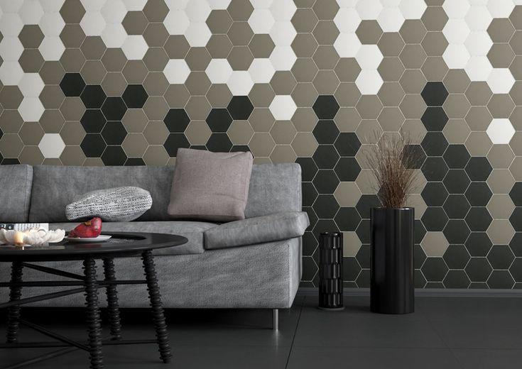 3 Idéias para usar Hexagon Telhas em paredes