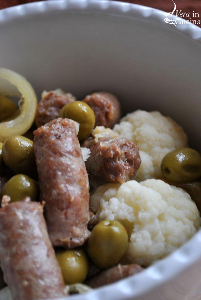 Sardegna: cavolfiori e salsiccia alla finanziera