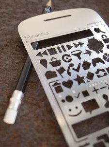 Aluminium Stencils for quick drawings. It has a Windows Phone and Windows 8 version!!!