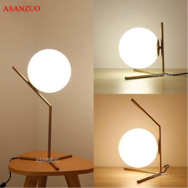 21 62 Reduction De 48 Moderne Led Lampe De Table Lampe De Bureau Abat Jour En Verre Boule Lampe De Table Lampe De Bur In 2020 Desk Lamp Table Lamp Led Table Lamp