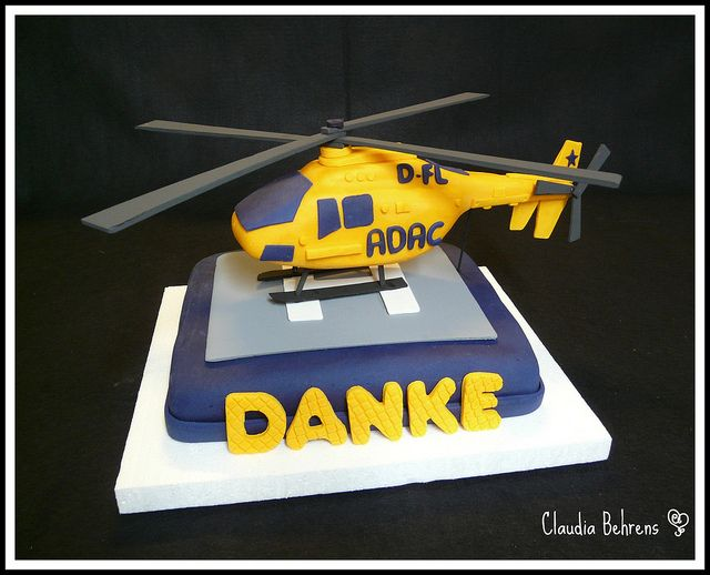 helicopter cake - claudia behrens | Flickr - Photo Sharing!