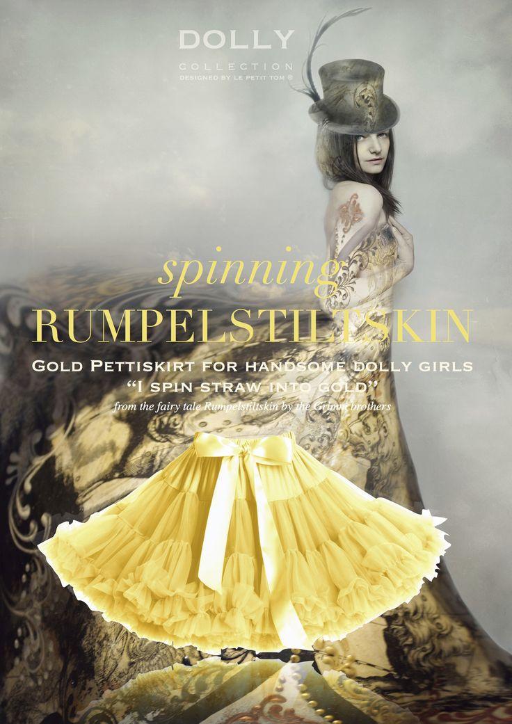 Η αγαπημένη μας Dolly φούστα σε κίτρινο - χρυσό. Διαθέσιμη για 3-6 ετών!