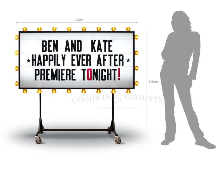 Cinema Marquee Sign with lights for Hire / Rent - London – Goodwin & Goodwin™ - London Sign Makers