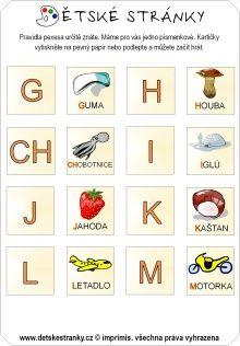 Pexeso - abeceda (G-M)