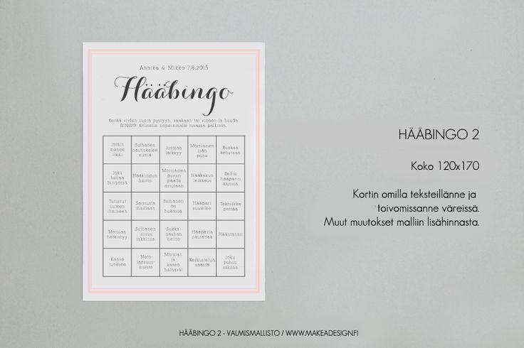 Häiden paperituotteiden valmismallisto 2015 » Makea Design // Valokuvaus / Graafinen suunnittelu / Juhlasuunnittelu / Sisustussuunnittelu