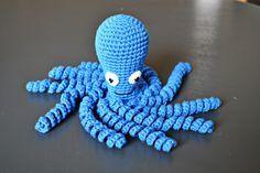 Blæksprutte Opskrift på hæklet blæksprutte, DIY