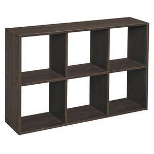 ClosetMaid Mini 6 Cube Storage Organiser - Espresso