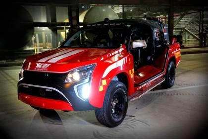Tiny Red Rhino fire truck hits streets of Singapore | Auto Express