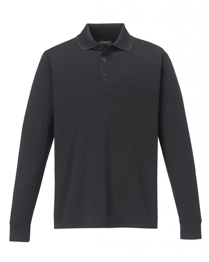 Big Mens Tall Pinnacle 100% Performance Long Sleeve Pique Polo by North End