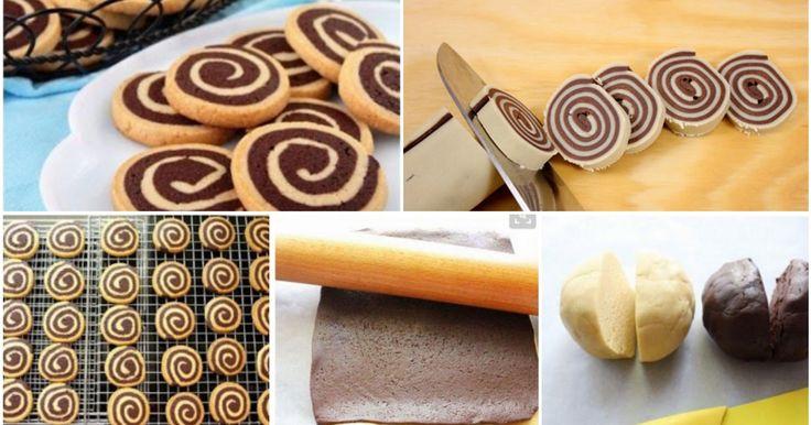 I biscotti girandola sono degli sfiziosi dolcetti preparati con un impasto neutro e uno al cacao, che insieme creano un effetto visivo molto originale!
