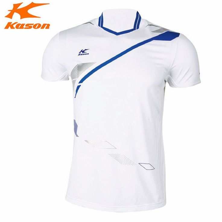 Kason Men's Badminton Shirts Fitness Summer Sport Running T-Shirt Tee Table Breathable Tennis Tops FAYH001 Quick Dry Comfortable