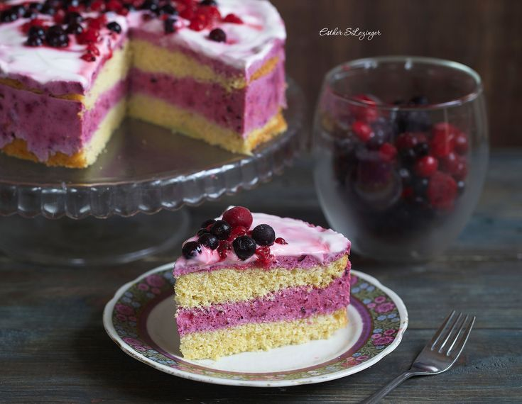 Диетический низкокалорийный смородиновый торт | Рецепты правильного питания - Эстер Слезингер
