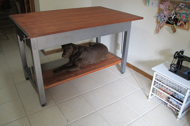 Buddy thinks my refurbished drafting table is especially for him!Cbr
