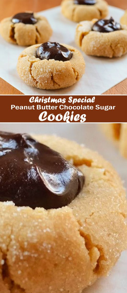 Today I want to share with you one of my personal favorites – Peanut Butter Chocolate Sugar Cookies, these are SO cute and of course, this homemade Cookies recipe is very easy to make!