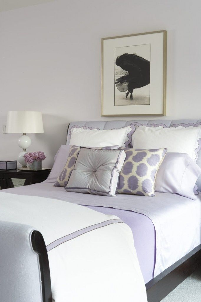 Soothing lavender bedroom Amanda Nisbet 75