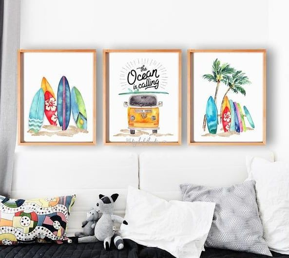Modern Wall Frames For Your Living Space Customize Your Own Designs Whatsapp F In 2020 Nursery Prints Beach Nursery Modern Wall Frames