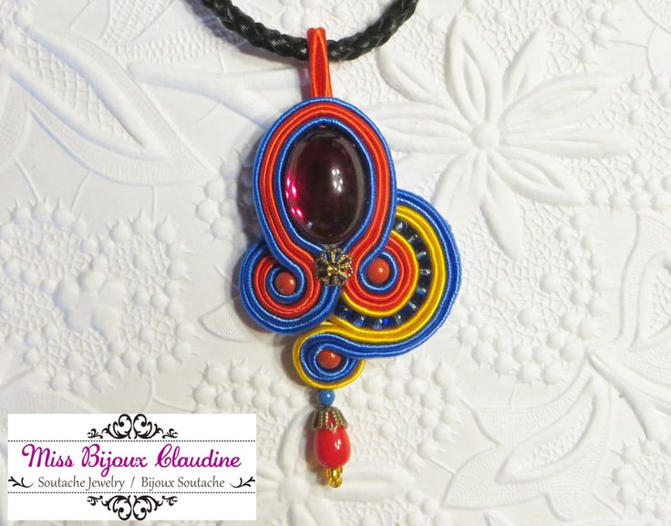 Soutache Pendant - by Miss Bijoux Claudine - 2015
