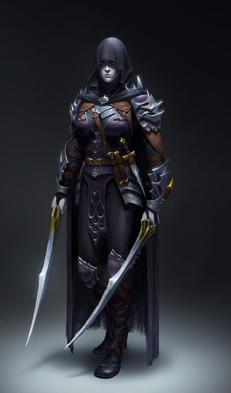 Dark Assassin, Yoon Seseon on ArtStation at https://www.artstation.com/artwork/KERNr
