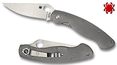 Spyderco Military Model Fluted Titanium PlainEdge Knife  http://www.handtoolskit.com/spyderco-military-model-fluted-titanium-plainedge-knife/