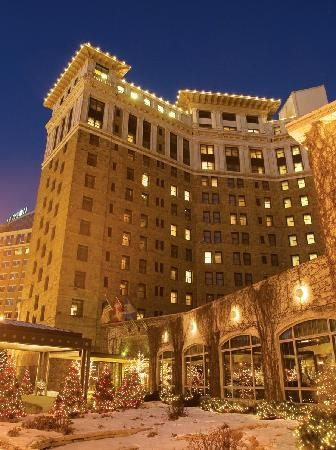 St. Paul Hotel, overlooking Rice Park, St. Paul, MN.  Where visiting celebrities often choose to stay.