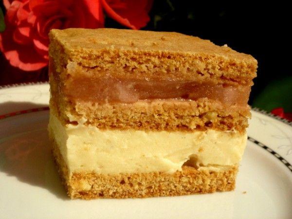 Ciasto miodowe z serem i jabłkami