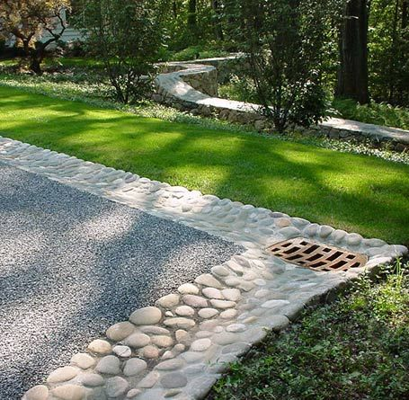 Backyard Drainage Ideas turning your drainage ditch into a beautiful dry stream bed outdoor landscaping ideas outdoor landscaping Drainage Driveway Landscaping Ideas Park Landscape Design Driveways