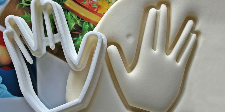 """The baker's spin on the iconic, """"Live long and prosper"""" hand sign is handmade by maker Smiltroy on Etsy."""