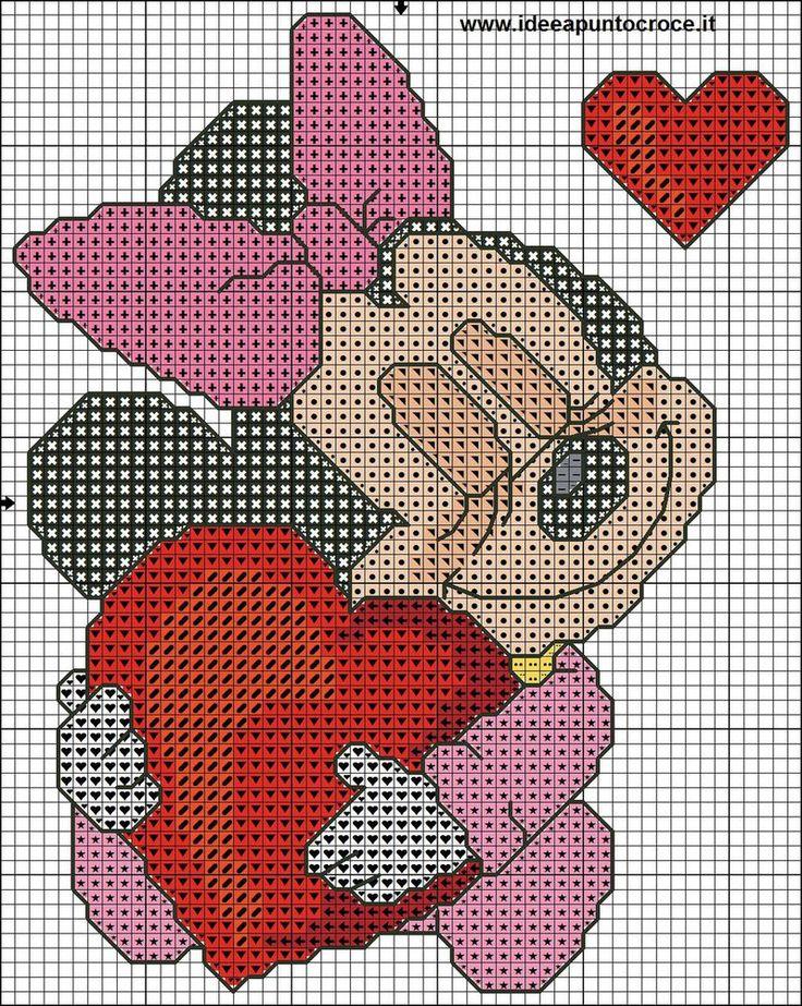 baby minnie cross stitch by syra1974