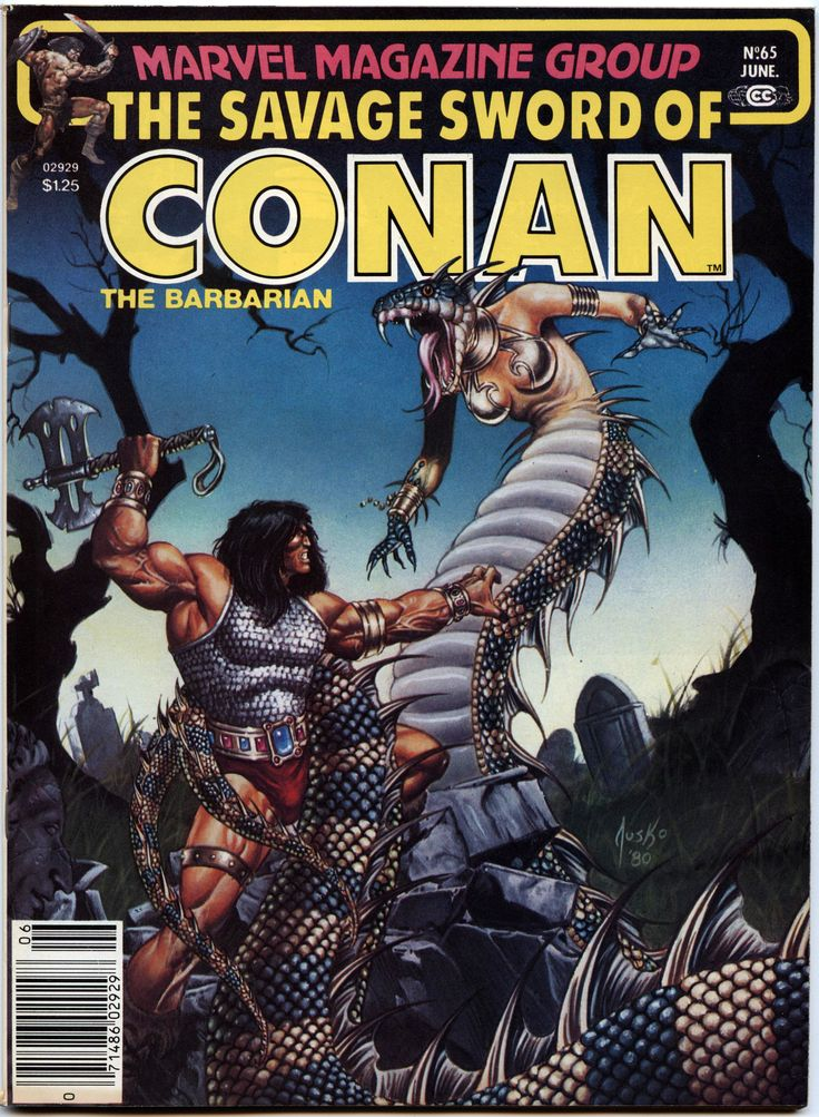Lot Detail - 1981 The Savage Sword of Conan #64-68 Marvel Comics ...