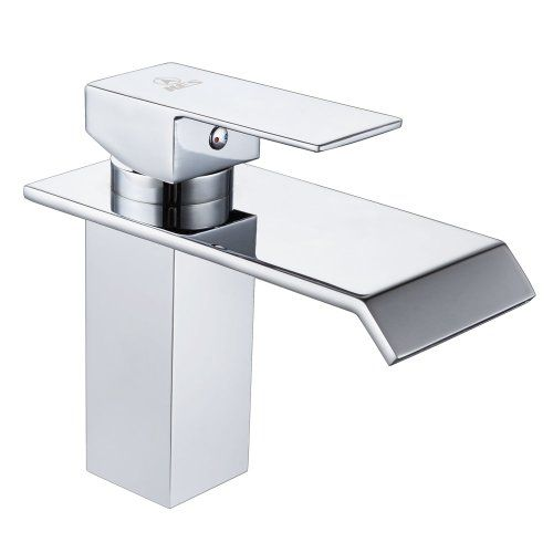 Large Single Sink Vanity : Single Handle Waterfall Bathroom Vanity Sink Faucet with Extra Large ...